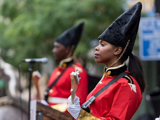 "A ""changing of the guard"" ceremony by Live Nation was held on Market Street in Wilmington in front of The Queen on Wednesday."