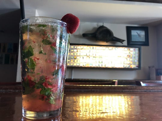 Mint Strawberry Refresher at the Black Whale in Beach