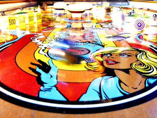 A vintage pinball game.