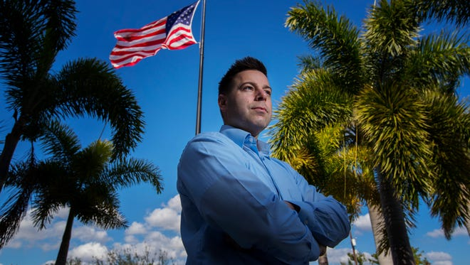 Captain Tony Sizemore, of the Cape Coral Police Department, poses for a portrait at the police headquarters, Tuesday February 6, 2018.