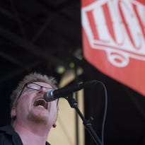 Flogging Molly lead singer Dave King preforms during the band's set at the 2007 Van's Warped Tour. They return for a Gillioz Theatre concert May 22.