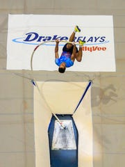 Augusto Dutra de Oliveira competes in the Drake Relays