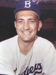 Ralph Branca, Brooklyn Dodgers pitcher, is seen during