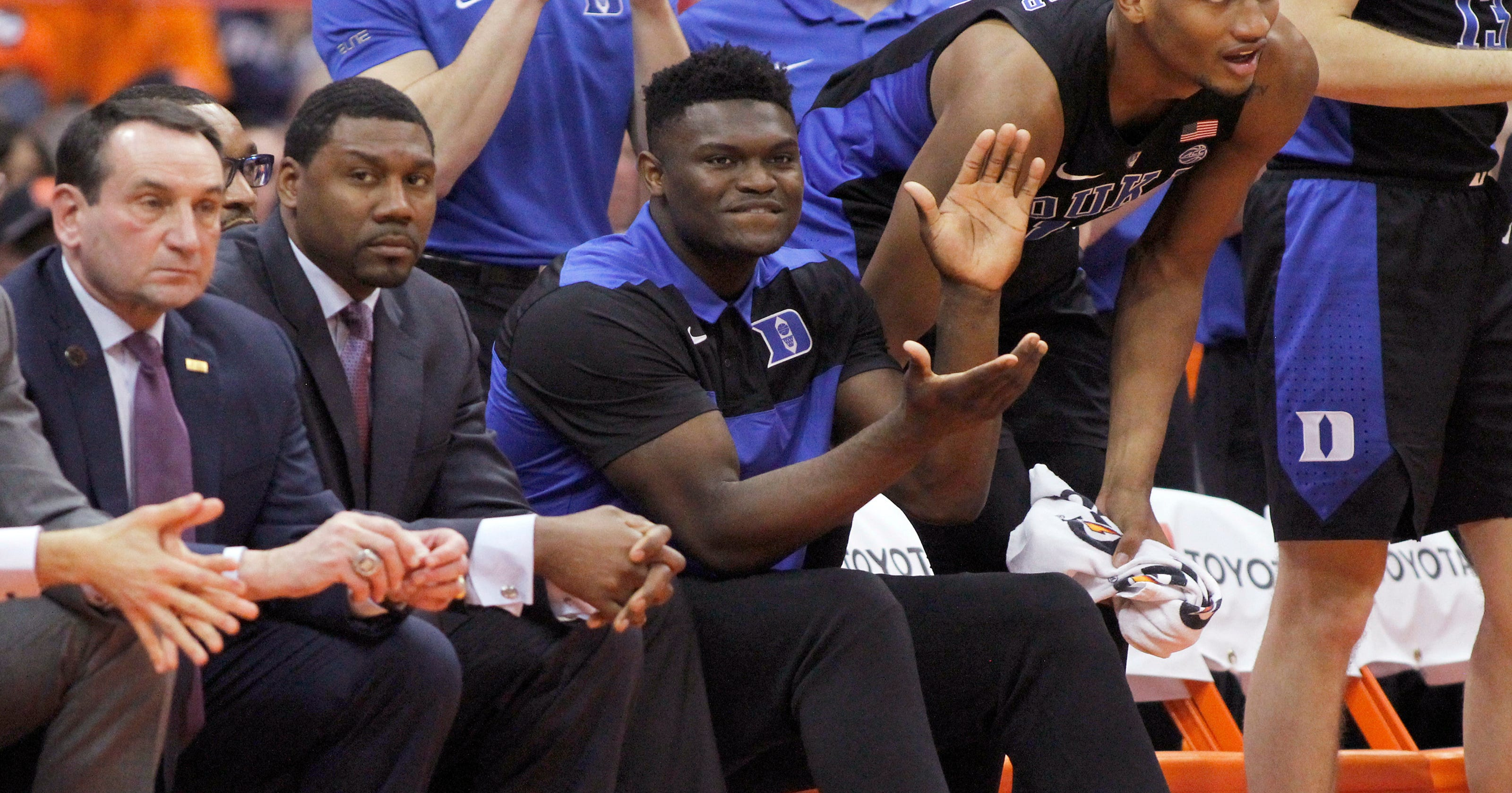 11e48f9fa58 Zion Williamson to miss Duke game at Virginia Tech due to knee injury