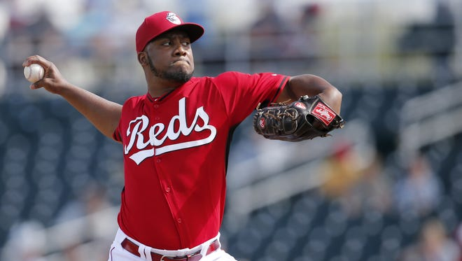 Reds pitcher Keyvius Sampson also pitched two scoreless innings in relief.