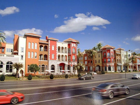 New restaurants, retail shops and condominiums are planned at Bayfront, where Goodlette-Frank Road meets U.S. 41, in Naples.