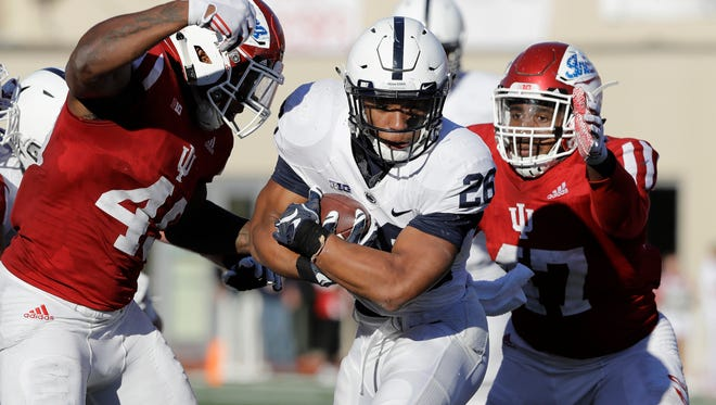 Saquon Barkley endured the roughest day of his career at Indiana -- and yet maybe the most important. His patience, perseverance and leadership defines this stunning turnaround.