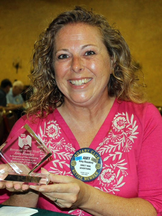 Amy Rouskey, The Rotary Club of Cape Coral 2013-14 Rotarian of the Year.jpg