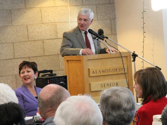 Sen. Ron Griggs, R-District 34, spoke during the Legislative Prayer Breakfast at the Alamogordo Senior Center Friday.