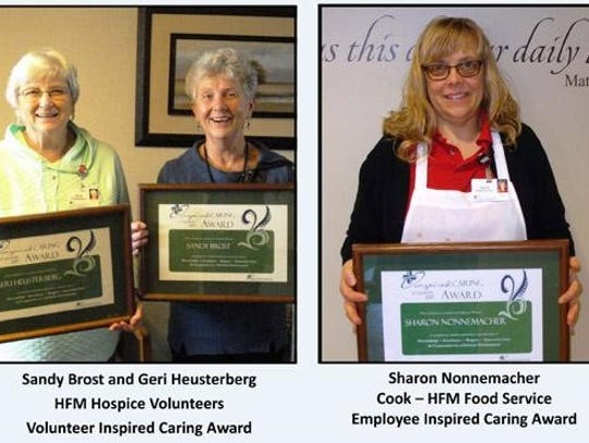 Inspired Caring Award winners: Sandy Brost and Geri