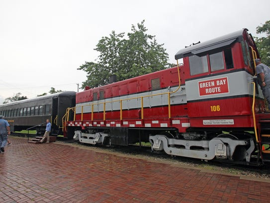 Visitors to the National Railroad Museum can take a
