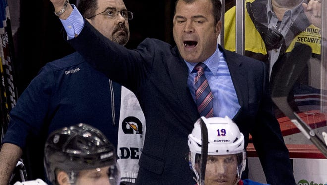 The Rangers and head coach Alain Vigneault  begin ther playoff series against the Flyers on Thursday night.