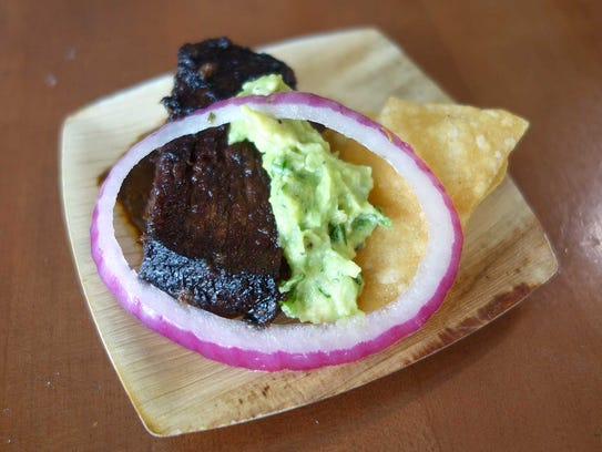 GOLD MEDAL: Smoked beef brisket with chile negro and