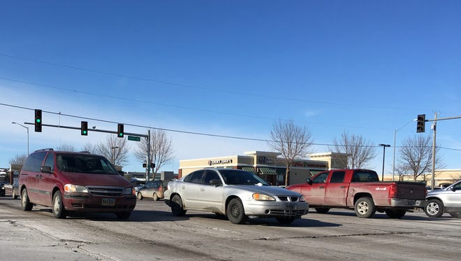 Another busy day at the intersection of 57th Street and Louise Avenue in south Sioux Falls.