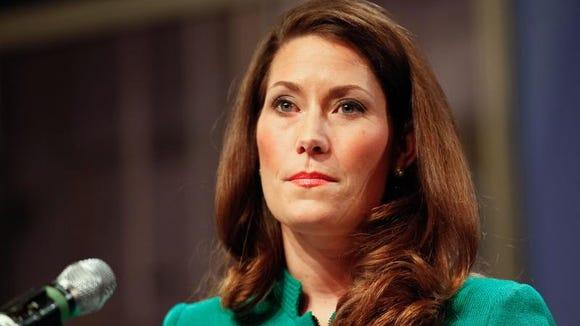 Kentucky Senate candidate Alison Lundergan Grimes. Jan. 16, 2014