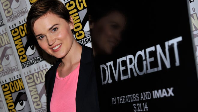 """Divergent"" author Veronica Roth attends Comic-Con in July. The book is No. 1 for the first time on USA TODAY's Best-Selling Books list."