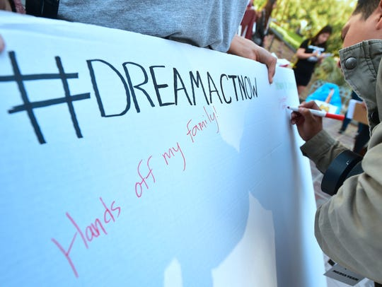 Dreamers and advocates post comments in support of