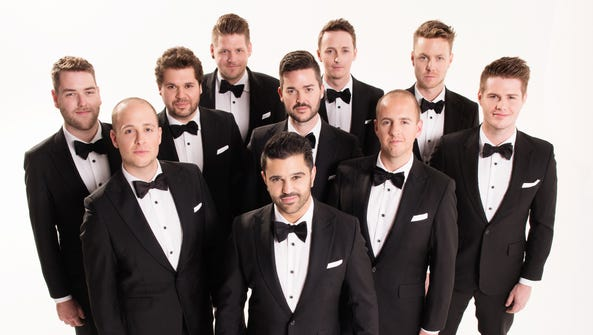 The TEN Tenors will perform at the Spencer Feb. 22.