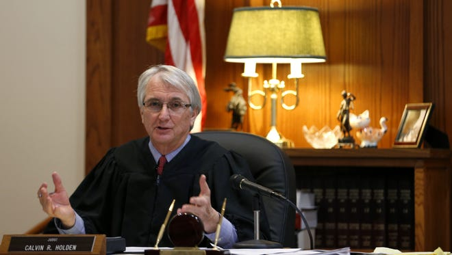 In this 2015 file photo, Judge Calvin Holden presides over a pre-trial conference. Holden announced on Friday he is creating a domestic violence court.