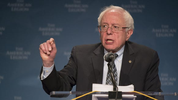 Bernie's crunching the numbers on his invisible chalkboard.
