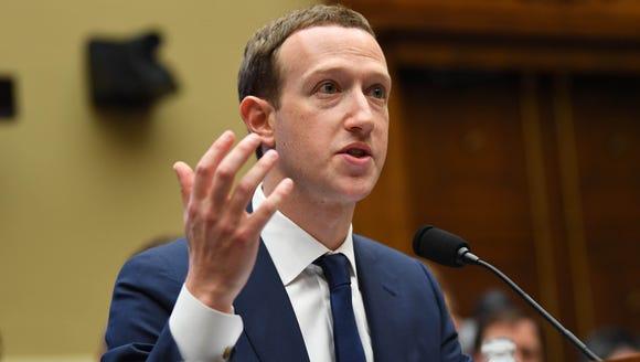 Facebook CEO Mark Zuckerberg testifies before the House
