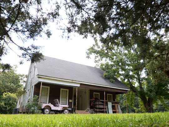 Chris Parker and Jackie Lewis are making renovations to this 1888 two-story dogtrot home in rural Bienville Parish.