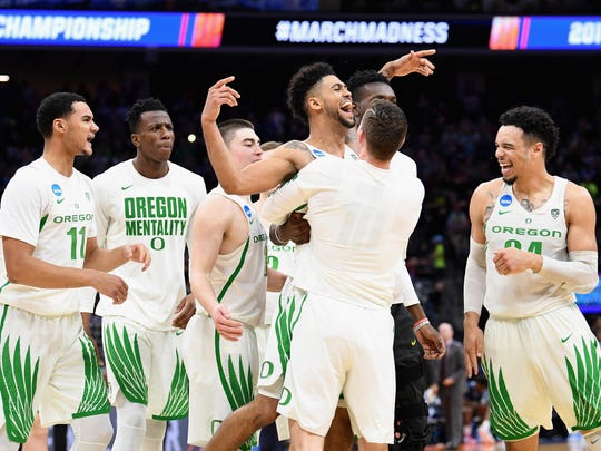 Oregon's white uniforms rank second among teams in the Sweet Sixteen, according to a list compiled by ESPN.