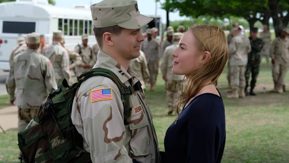 Jason Ritter portrays Capt. Troy Denomy with Kate Bosworth
