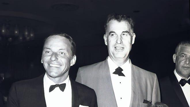 Frank Sinatra and Palm Springs legend Frank Bogert. (Photo credit: George Aquino)
