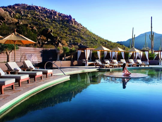 Guests can enjoy the pool at the Ritz-Carlton, Dove Mountain.