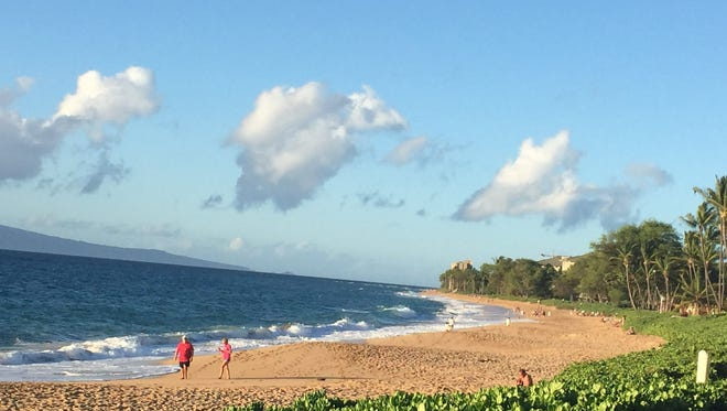 Kaanapali Beach, Maui is romantic every moment.