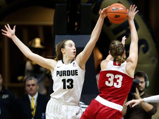Purdue women top IU, Versyp makes history