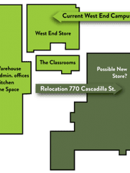 A comparison between GreenStar West End's current location