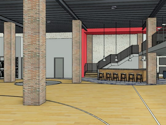 A rendering of Pat McAfee's soon-to-be Barstool Heartland