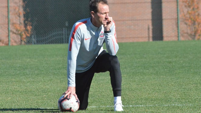 Coach Brian Maisonneuve's Ohio State men's soccer team likely won't begin its season until February.
