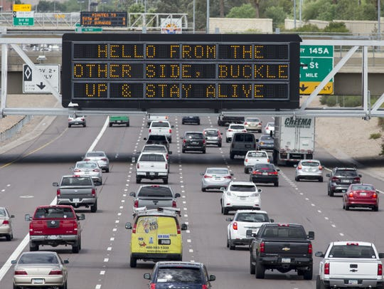 Traffic on Interstate 10 near downtown Phoenix.