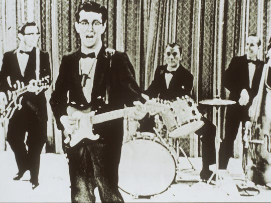 DATE TAKEN: undated---Buddy Holly and the Crickets during an appearance on The Ed Sullivan Show. ORG XMIT: UT13289