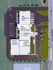 Plans for Sartell's new public safety facility from
