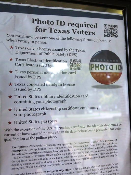AP MIDTERM ELECTIONS TEXAS VOTING RIGHTS A ELN FILE USA TX