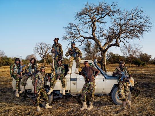 Zakouma's Mamba Team 1 antipoaching unit includes driver