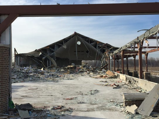 Demolition was underway at the abandoned Pinnacle Race