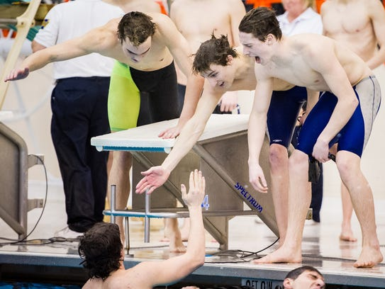 Dallastown's 400-yard freestyle relay team members