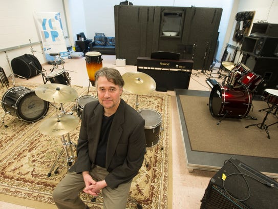Shawn Young, the director of York College's Music Industry