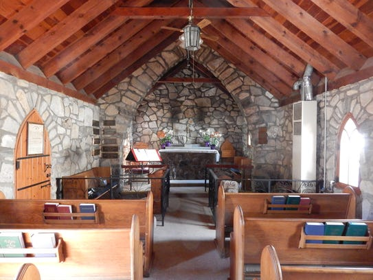The interior of Saint Anne's Chapel.