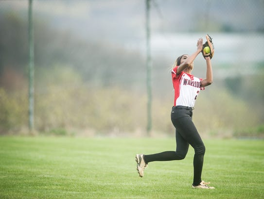 Susquehannock's Mallory Lebo (21) chases down a fly