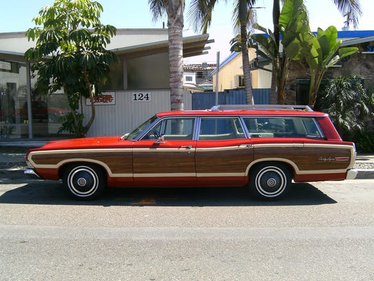 The Ford Country Squire station wagon driven by Betty