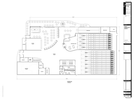 The plan for a family entertainment center that is