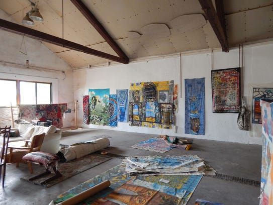 Paula Wilson's studio in the Ford house.