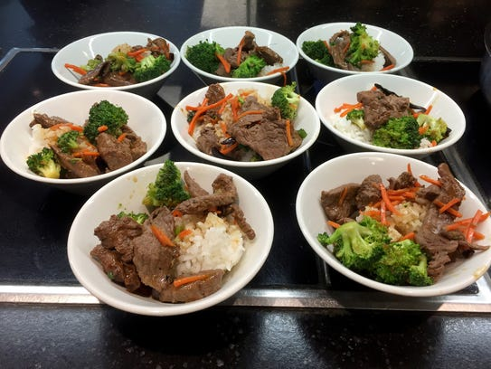 Dining at the University Michigan. Beef with Yu-Xiang