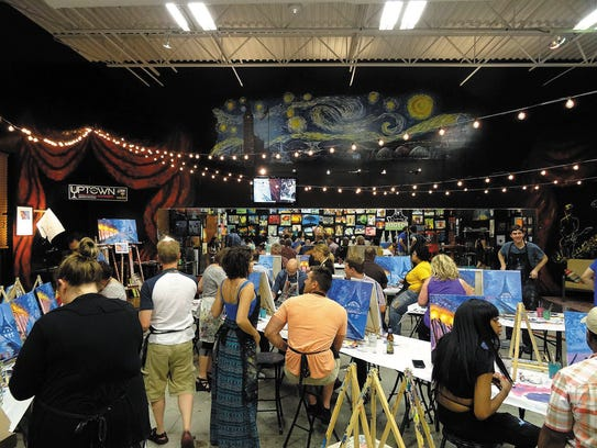 Uptown Art offers a laid-back atmosphere and instructor-based